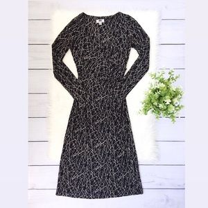 Diane Von Furstenberg Black Long Sleeve Dress 410